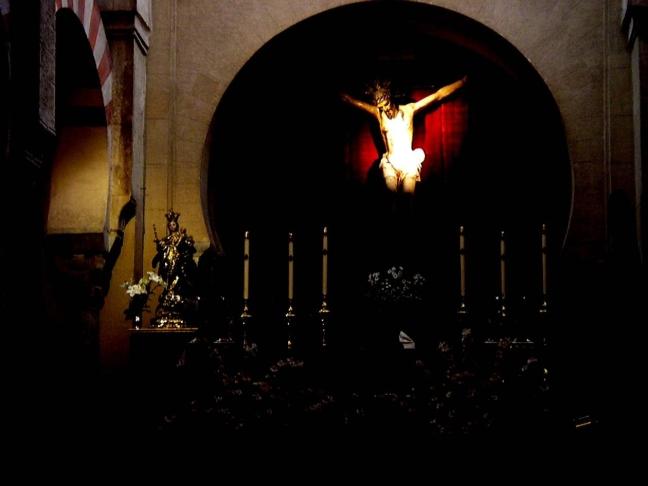 Christusbeeld in het Mezquita