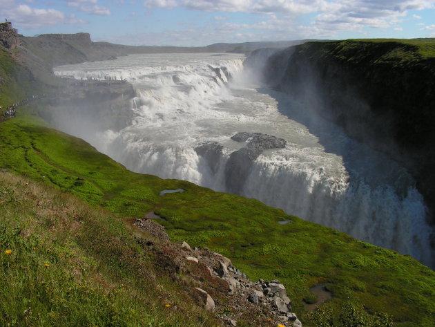 De Gullfuss watervallen