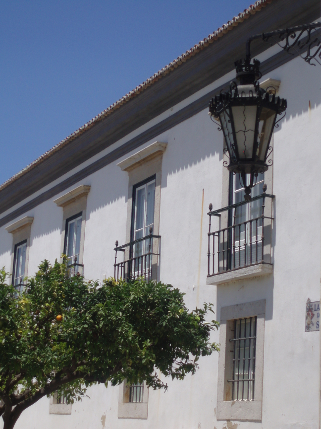 Plein in Faro (met sinaasappel)