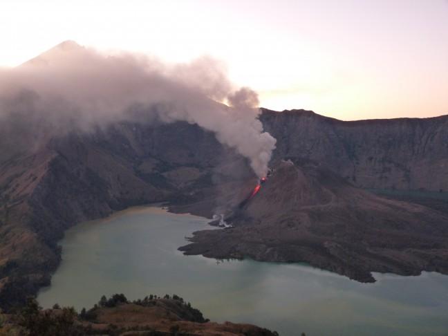 Actieve vulkaan