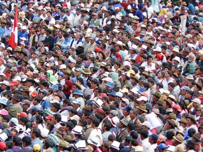 Demonstratie in Cuzco