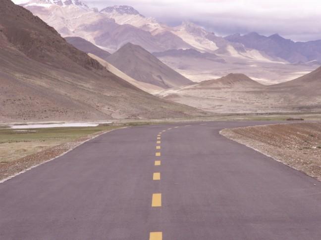 Oneindige wegen in Tibet