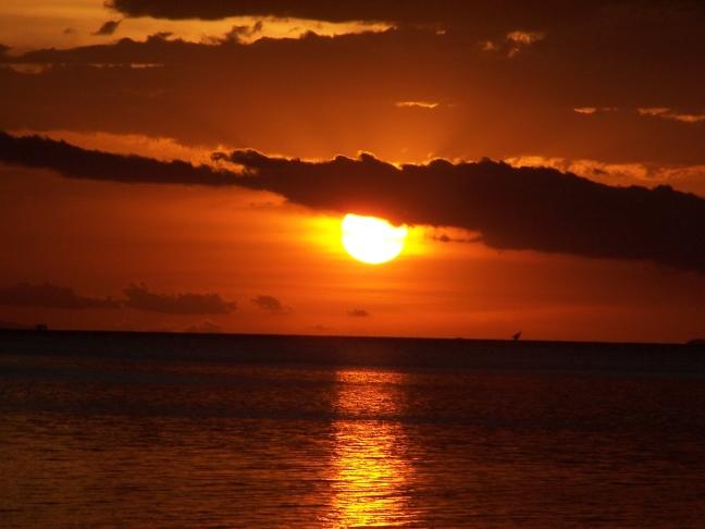 Zonsondergang Victoriameer