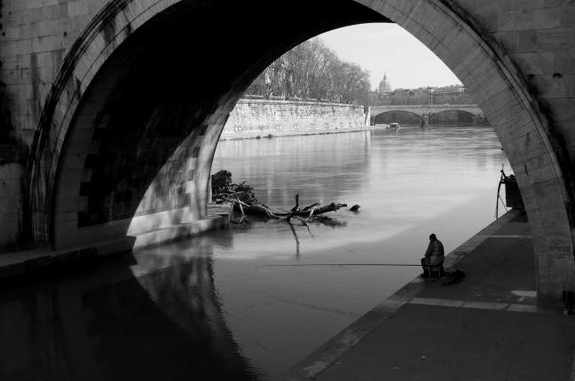 Vissen langs de Tiber