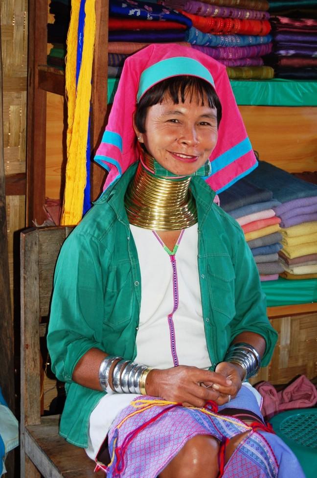 Padaung vrouw
