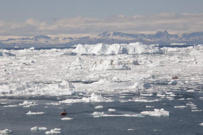 ijzige zee
