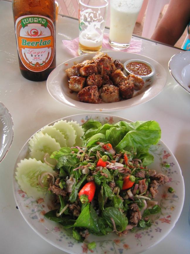 Laab nationaal gerecht in Laos