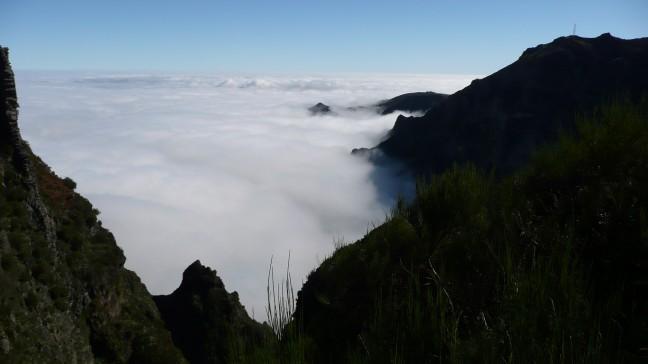 Goed weer hoog in de bergen