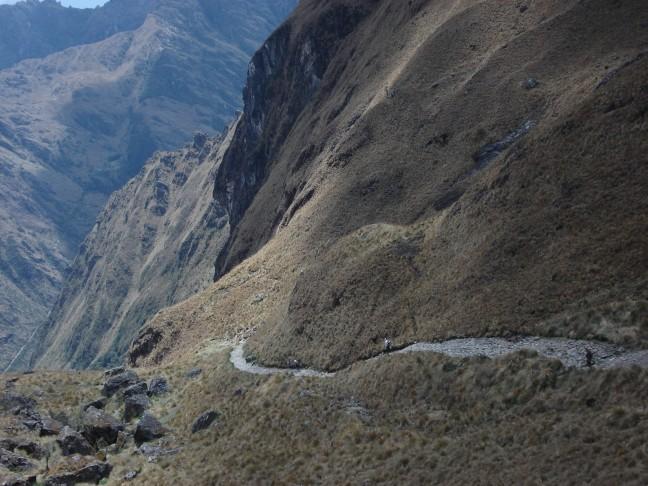 Trappen lopen tijdens Inca Trail