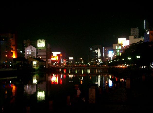Fukuoka bij nacht