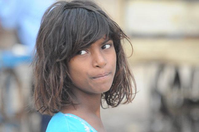 Bedelmeisje in Delhi