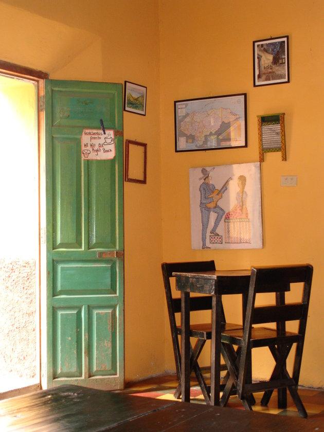 Verlaten koffie in Copan