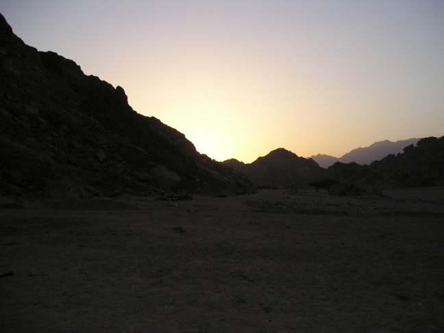 zonsondergang Sinai