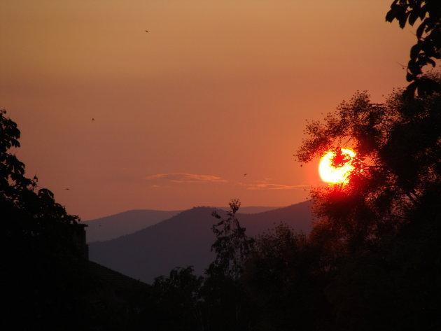 Zonsondergang in Belogradchik