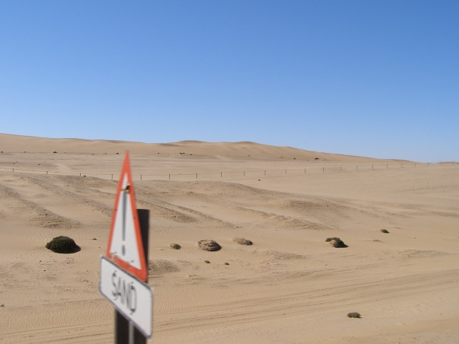 Let op: zand