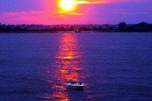 Zonsondergang op 4th of july