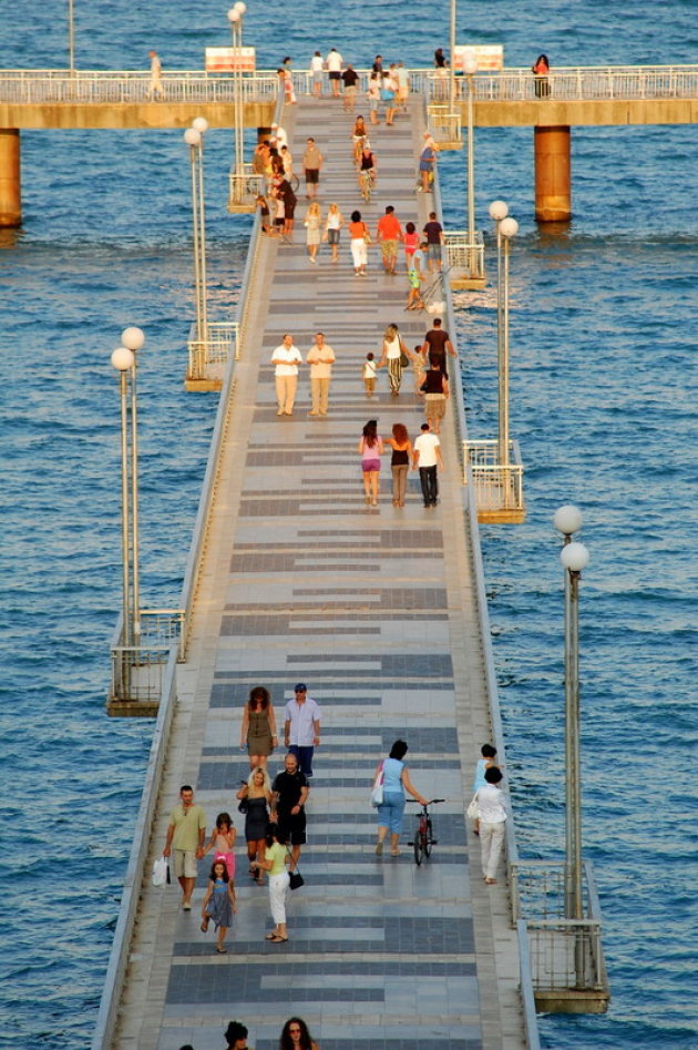 De pier van Burgas