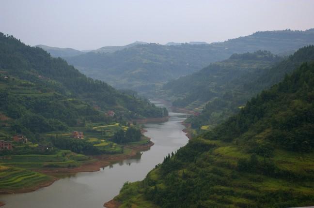 Rivier nabij Chongqing