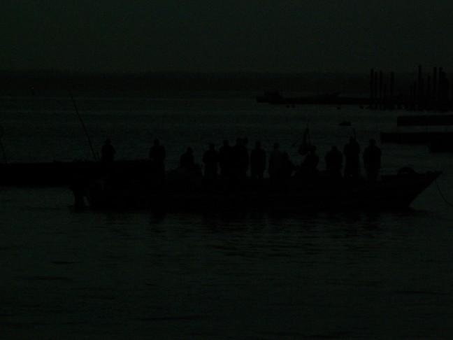 vissers in de nacht