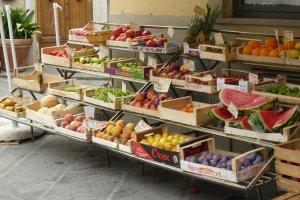 Fruitkraam in Toscane