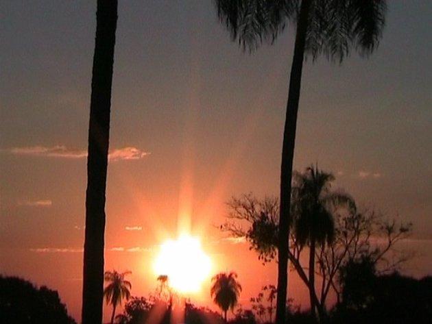 Zonsondergang in de Pantanal