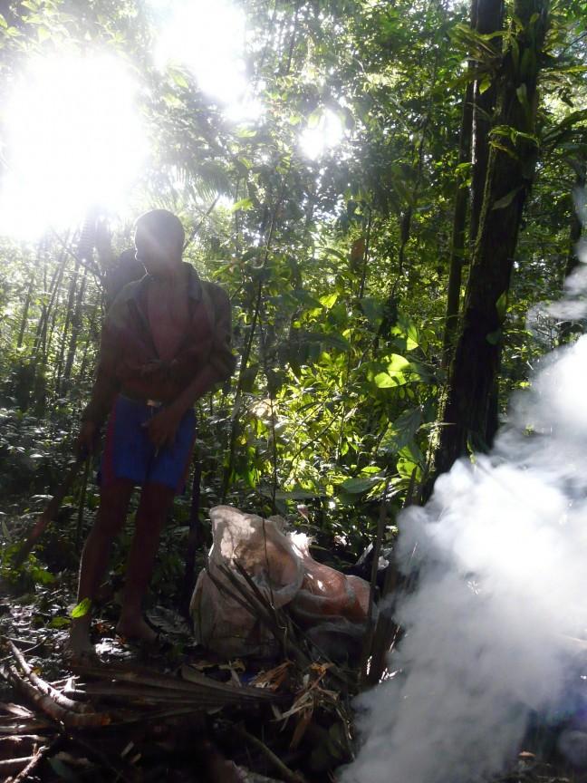 Vuur maken in de Amazone
