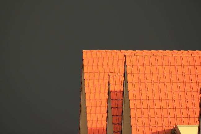 Dreigende lucht boven Vinex wijk
