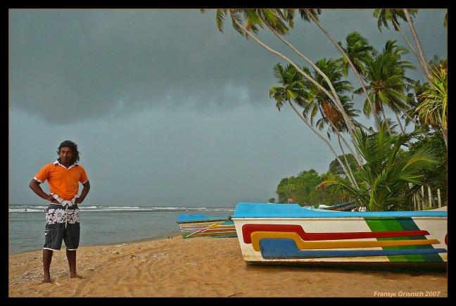 Tropische bui op komst