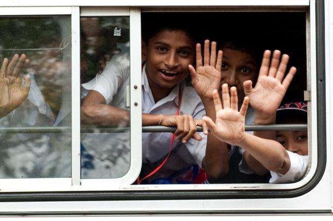 Kids in de bus