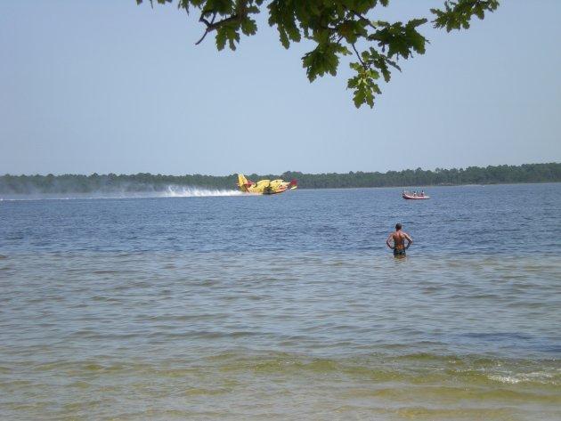 Blusvliegtuig Lac de Lacanau