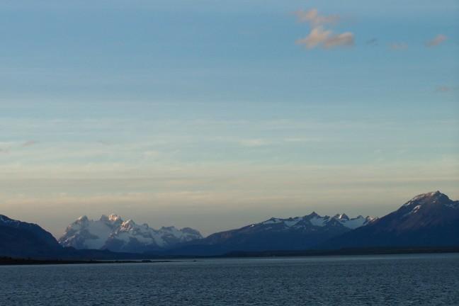 Uitzicht vanaf Puerto Natales