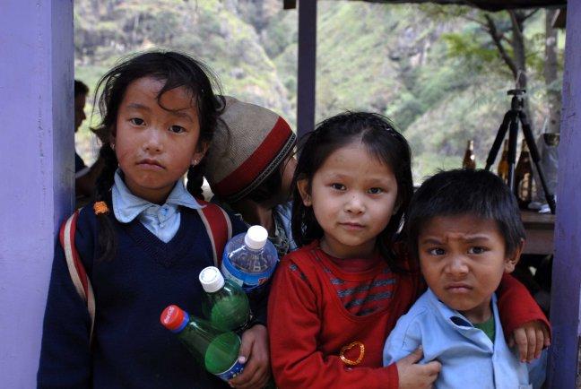Kinderen in de Himalaya