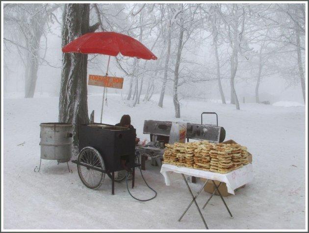 winter op het Janos berg