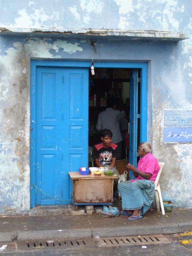 straatbeeld van Malé