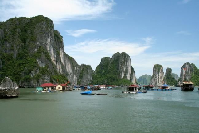 Visserswoningen Halong Bay