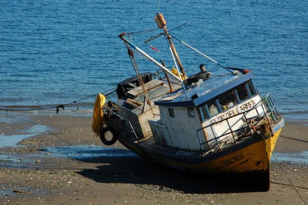 Vissersbootje in Quemchi
