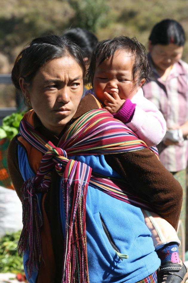 weekendmarkt in Thimphu