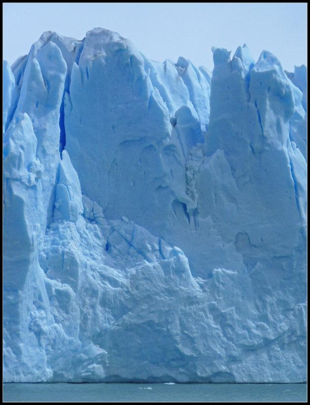 Gezicht in ijs