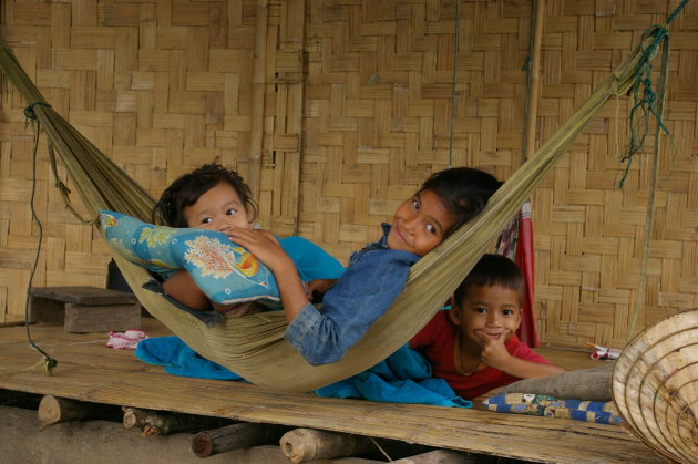 Kinderen op de veranda