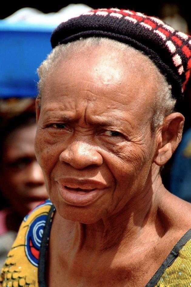Old woman at Oba Market