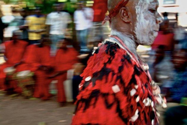 Voodoo priest at JuJu ritual