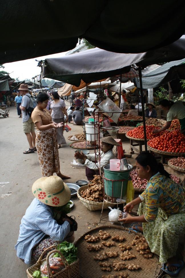 De markt in Mandalay