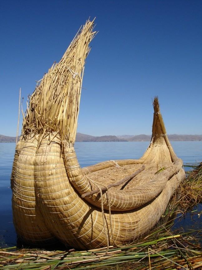 Bootje op het Titicacameer