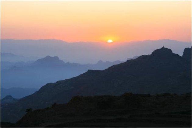 zonsopgang haraz mountains