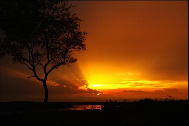 zonsondergang aan de Nijl