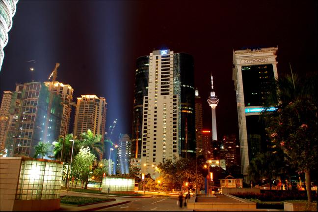 Nachtopname Kuala Lumpur