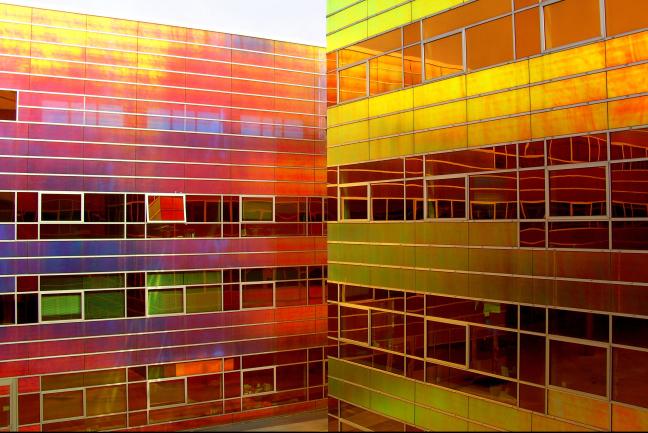 Stadsbeeld in multi-colour