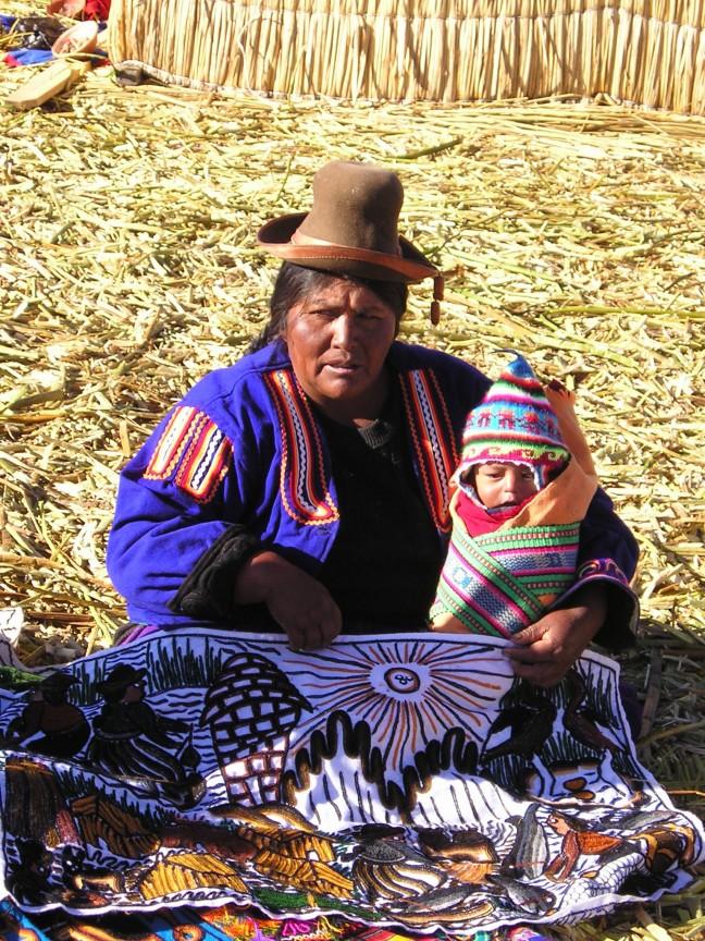 Peruaanse schone met kind