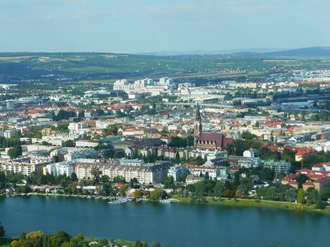 Vanaf de Donauturm