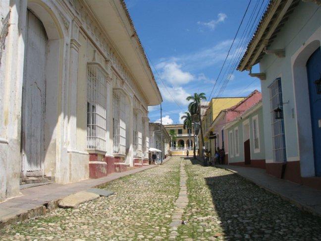 Straatje in Trinidad